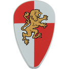 LEGO Minifig Shield Ovoid with Lion Knight Decoration (91023)
