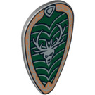 LEGO Minifig Shield Ovoid with Stag Head Decoration (15149 / 93819)