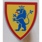 LEGO Minifig Shield Triangular with Blue Lion on Yellow (3846)