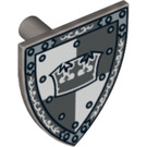 LEGO Minifig Shield Triangular with Decoration (3846 / 12645)