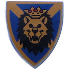 LEGO Minifig Shield Triangular with Lion Head with Crown Decoration (3846)