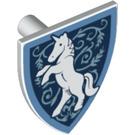 LEGO Minifig Shield Triangular with White Unicorn (3846 / 38293)