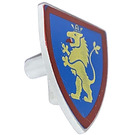 LEGO Minifig Shield Triangular with Yellow Lion on Blue (3846)