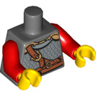 LEGO Minifig Torso Assembly with Chain Armor Decoration (76382 / 88585)