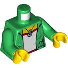 LEGO Minifig Torso with Green Jacket over T-shirt with Necklace (973 / 76382)