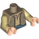 LEGO Minifig Torso with Merchant Vest and Blue Sash (76382)