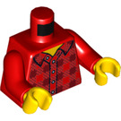 LEGO Minifig Torso  with Open-Necked Plaid Shirt (973 / 76382)