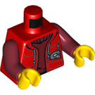 LEGO Minifig Torso with Red Jacket and Dark red Jumper (76382)