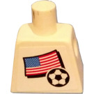 LEGO Minifig Torso with USA Soccer Field Player and Number 19
