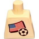 LEGO Minifig Torso with USA Soccer Field Player and Number 2