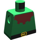 LEGO Minifig Torso without Arms with Forestman Maroon Collar (973)