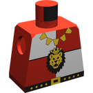 LEGO Minifig Torso without Arms with Royal Knights Lion Head  (973)