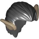 LEGO Minifigure Figure Hair with dark tan ears (10750 / 14033)