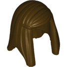 LEGO Minifigure Hair Female Long Straight with Side Part. (92083)