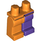 LEGO Minifigure Hips with Dark Purple Left Leg, Orange Right Leg and Coattails Decoration (10330 / 73285)
