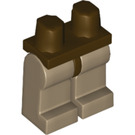 LEGO Minifigure Hips with Dark Tan Legs (73200)