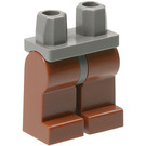 LEGO Minifigure Hips with Reddish Brown Legs (73200 / 88584)