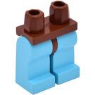LEGO Minifigure Hips with Sky Blue Legs (3815)