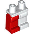 LEGO Minifigure Legs with White Left Leg and Red Right Leg (73200)