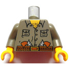 LEGO Minifigure Torso Jungle Shirt with Pockets and Guns in Belt with Dark Gray Arms and Yellow Hands (973)