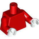 LEGO Minifigure Torso Undecorated with Red Arms and White Hands (76382)