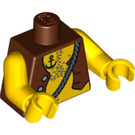 LEGO Minifigure Torso with Pirate's Open Vest, Anchor Tattoo, and Chest Hair (76382)