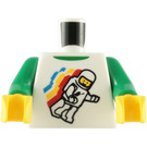 LEGO Minifigure Torso with Spaceman and Green Undershirt (76382)