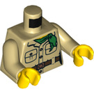 LEGO Misako Minifig Torso with Tan Arms and Yellow Hands (973 / 76382)