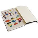 LEGO Moleskine notebook black brick, ruled, large  (5001126)