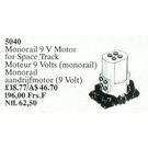LEGO Monorail Motor 9 V Set 5040
