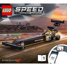 LEGO Mopar Dodge//SRT Top Fuel Dragster and 1970 Dodge Challenger T/A Set 76904 Instructions