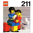 LEGO Mother and baby with dog Set 211-1 Instructions