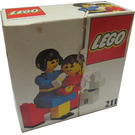 LEGO Mother and baby with dog Set 211-1 Packaging