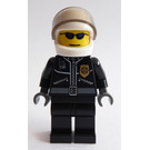 LEGO Motorcycle Policeman with Leather Jacket with Gold Badge Minifigure