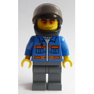 LEGO Motorcyclist with orange glasses Minifigure