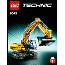 LEGO Motorized Excavator Set 8043 Instructions