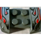LEGO Mudguard with Overhanging Headlights 2 x 4 with Decoration (44674)