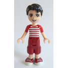 LEGO Nate with Dark Red Cropped Trousers and Red and White Striped Shirt Minifigure