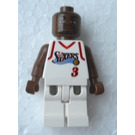 LEGO NBA Allen Iverson, Philadelphia 76ers Minifigure #3 White Uniform