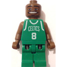 LEGO NBA player, Antoine Walker, Boston Celtics Minifigure Road Uniform, #8