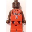 LEGO NBA player, Jalen Rose, Chicago Bulls Minifigure Road Uniform #5