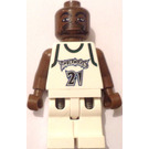 LEGO NBA player, Kevin Garnett, Minnesota Timberwolves Minifigure White Uniform #21