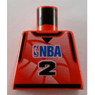 LEGO NBA player, Number 2 Torso without Arms