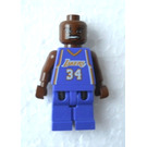 LEGO NBA Shaquille O'Neal, Los Angeles Lakers Minifigure #34 Road Uniform