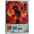 LEGO Ninjago Deck Number 2, Game Card 5, SAMURAI X (4643442)
