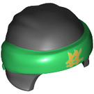 LEGO Ninjago Helmet with Green Band and Gold Logo (34597 / 35466)