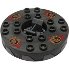 LEGO Ninjago Spinner with Black   Gold   Red Fire Heads