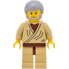 LEGO Obi-Wan Kenobi (Old) Minifigure with Medium Stone Gray Hair