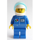 LEGO Octan Driver with White Helmet Minifigure