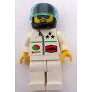 LEGO Octan Racer with Zipper and Black Helmet Minifigure
